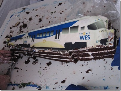 IMG_5388 TriMet Westside Express Service Cake at the Tigard Transit Center in Tigard, Oregon on January 30, 2009