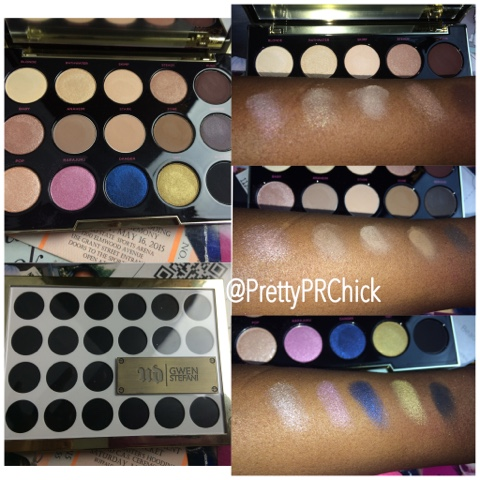 Urban Decay Gwen Stefani Swatches eyeshadow palette