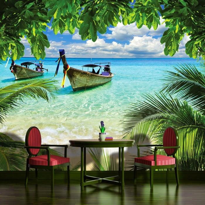 Karibik Für Zu Hause: 40+ Unglaublich Schöne Fototapeten Designs ... Feng Shui Schlafzimmer Fototapete