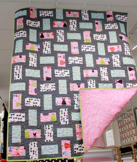 Tick Tock display quilt