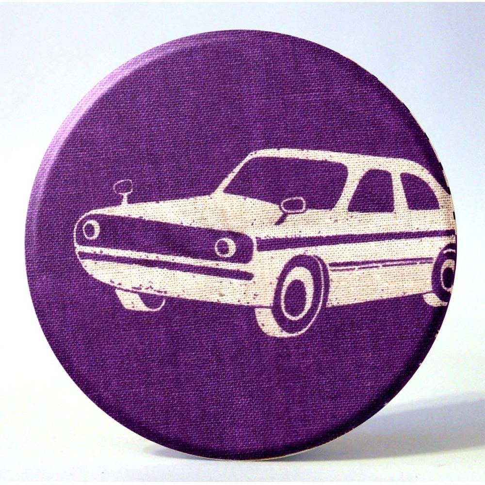 Purple & Gray Pocket Mirror