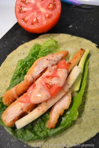 chicken zucchini wrap
