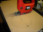Cutting with jig saw is the best solution.