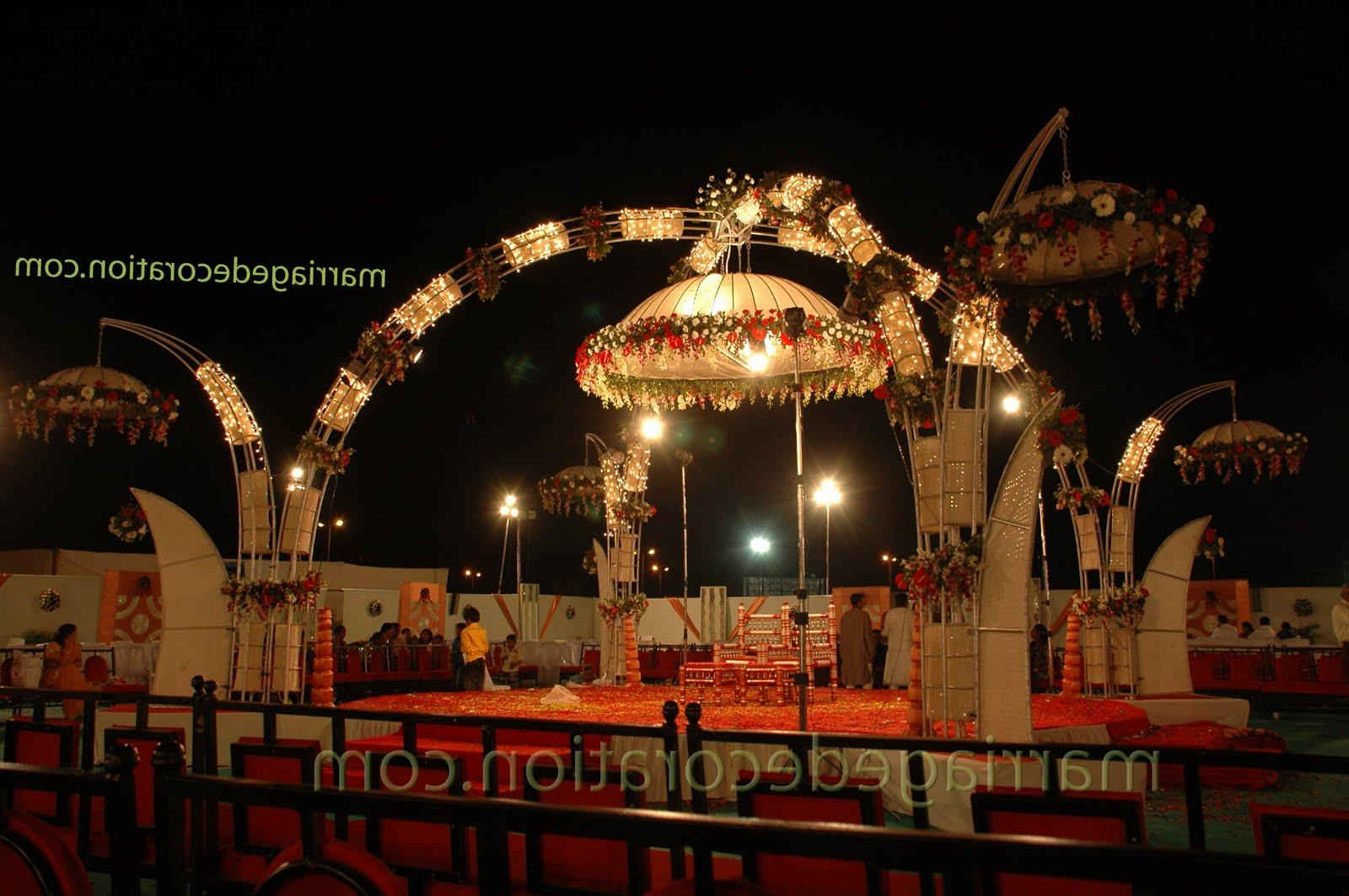 Wedding stage Decorated with