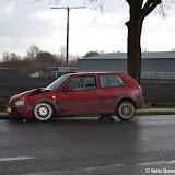 Ongeval met drie auto's op Zuidveen - Foto's Teunis Streunding