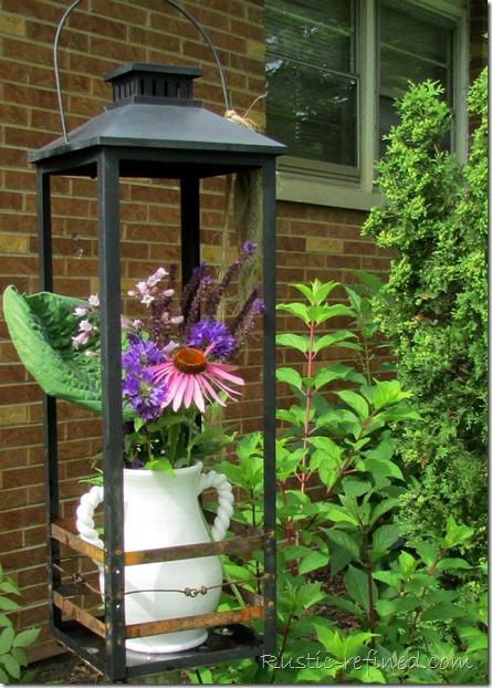 Trash to Treasure. Using trash or broken items and turning them into Garden Art or Yard Art.
