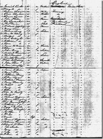 DORSEY_Catherine_passenger list_16 Sep 1854_ship Orient