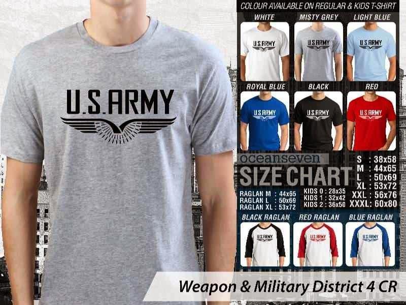 KAOS Militer US Army Weapon & Military District 4 distro ocean seven
