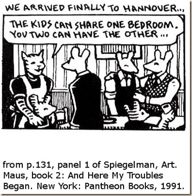 Spiegelman. Maus 2. p.131 panel 1 striped mice