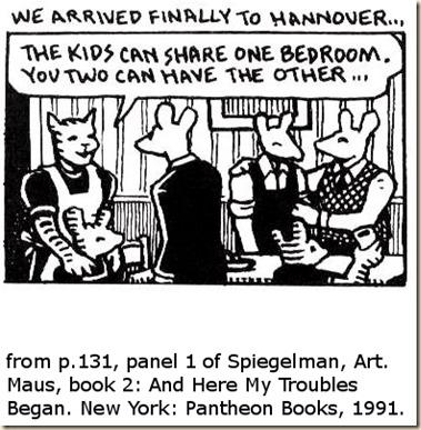 Spiegelman. Maus 2. p.131 panel 1 striped mice