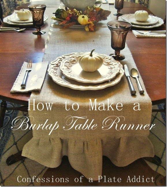 CONFESSIONS OF A PLATE ADDICT How to Make a Ruffled Burlap Table Runner