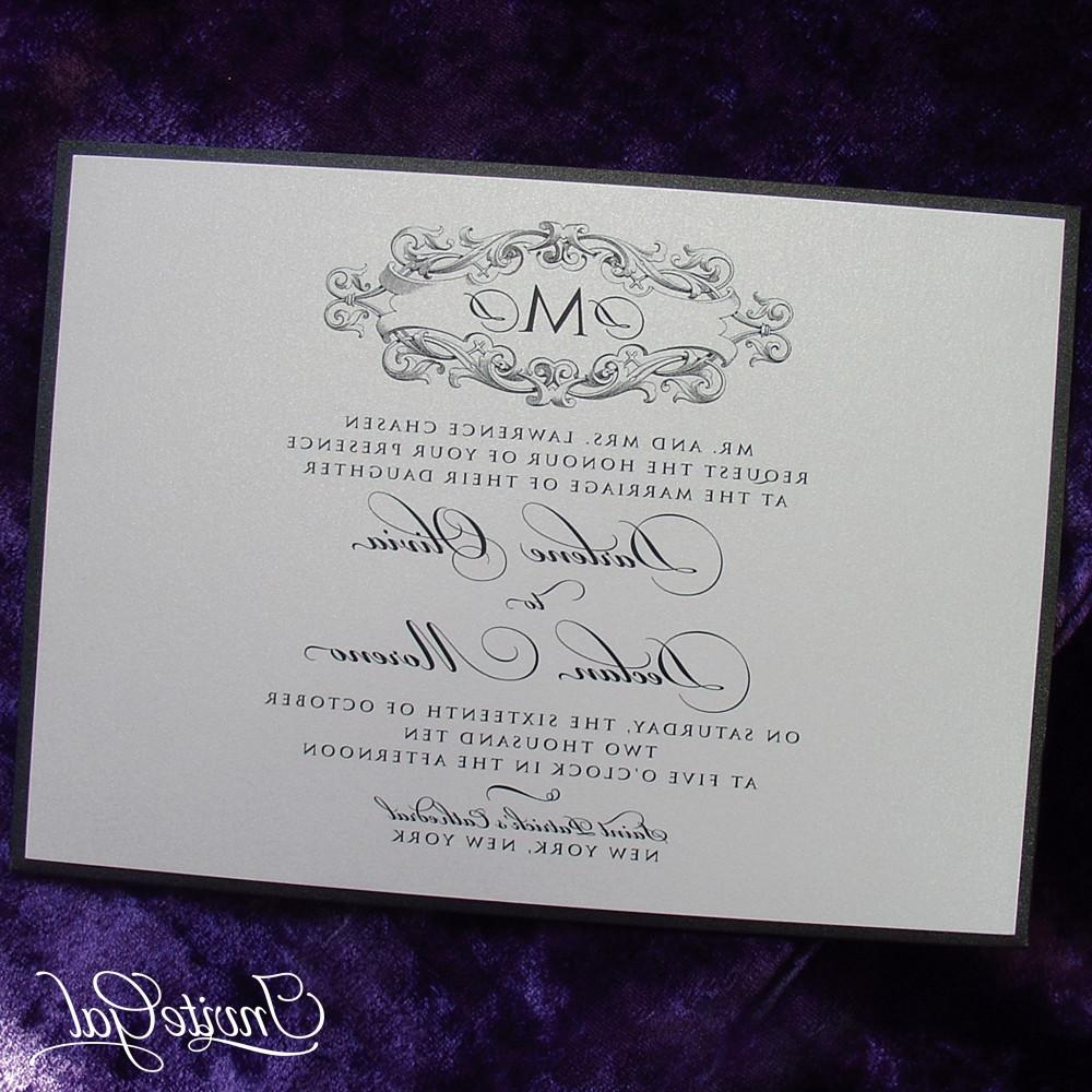 Victorian Monogram Wedding
