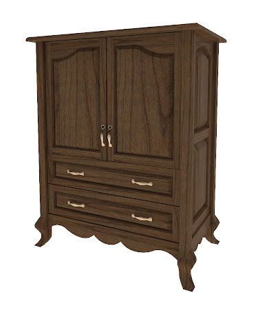 Orleans Armoire Dresser in Peppercorn Cherry