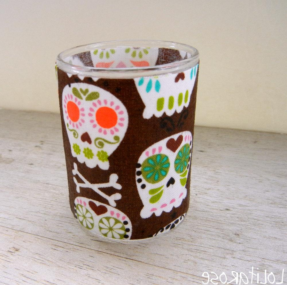 Sugar skull tealight holder,
