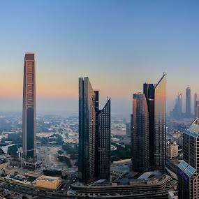 Dubai Cityscape by Salman Ahmed - City,  Street & Park  Skylines ( skyline, skyscraper, towers, dubai, high rise, uae, buildings, cityscape, city )