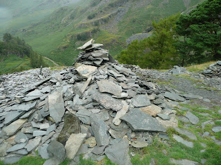 Cairn near quarry on Castle Crag