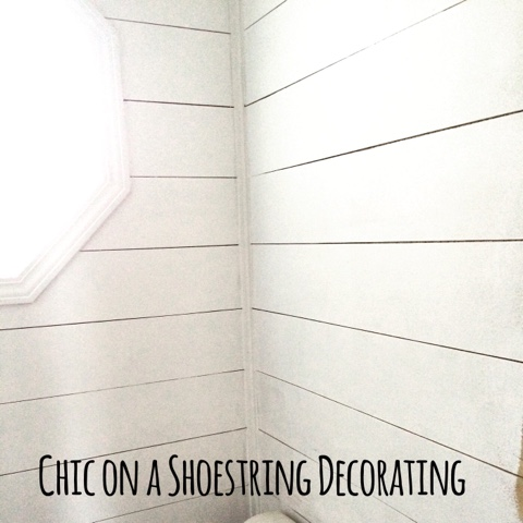 shiplap bathroom Chic on a Shoestring Decorating Blog