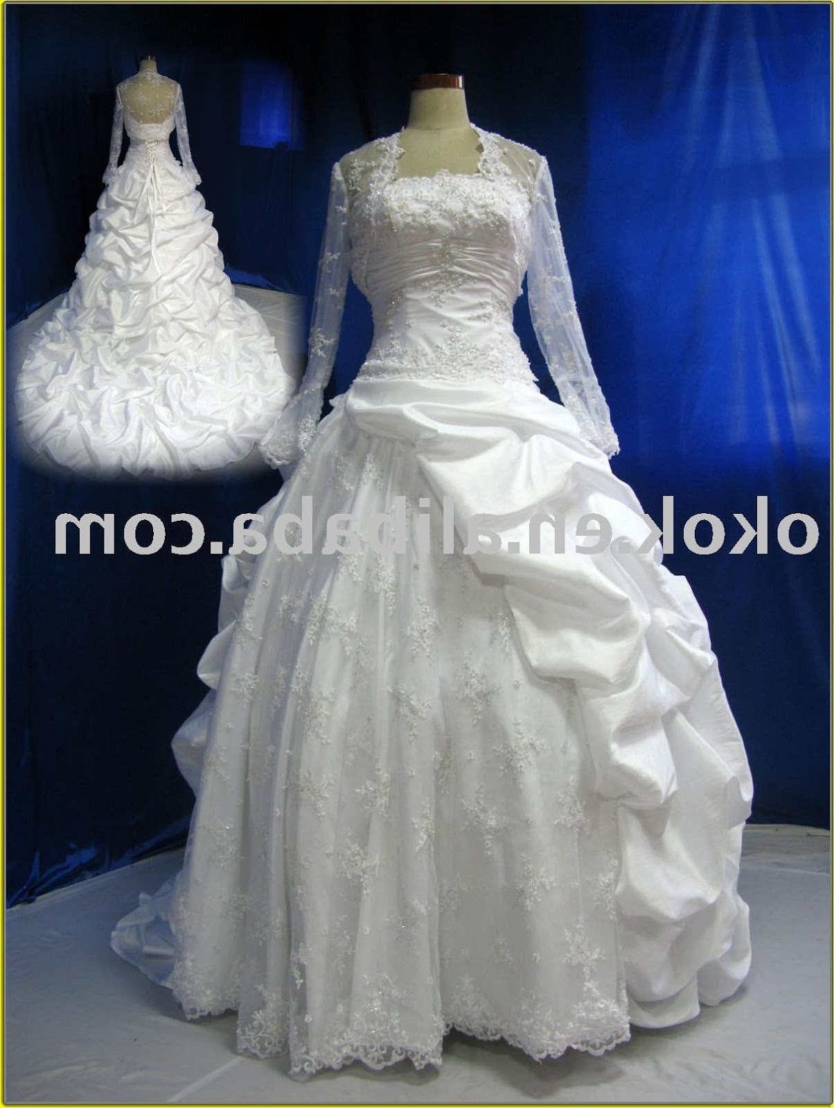 BW212 Long sleeve bridal gown