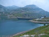 Hoch zum Colle del Nivolet. Der Lago Agnel.