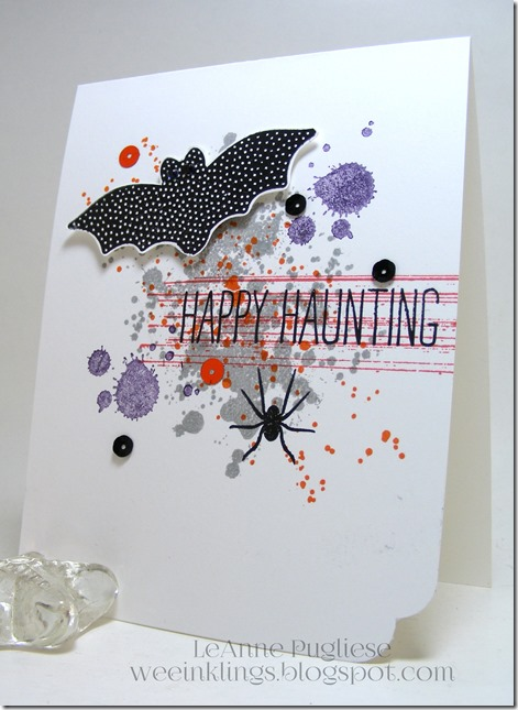 LeAnne Pugliese WeeInklings Cheer All Year Gorgeous Grunge Halloween Stampin Up 2