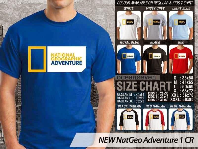 Kaos National Geographic NEW Nat Geo Adventure 1 distro ocean seven