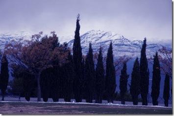 Montañas nevadas desde el Paseo de las Murallas