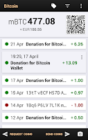 Screenshot of Bitcoin Wallet for Testnet