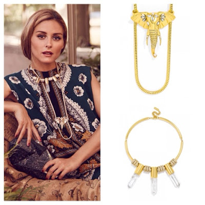 Olivia Palermo Jewelry Collection for BaubleBar in Ellie Pendant and Vial Collar Necklace