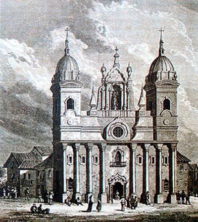 Catedral da Sè - Belém do Parà, litografia