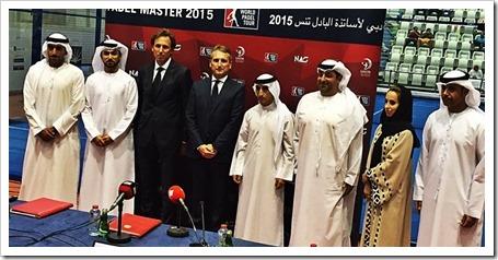 Presentado el Dubai Pádel Master, se jugará del 26 al 31 Octubre en el NAS Sport Complex.