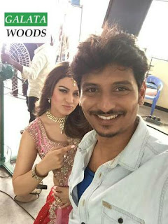 Hansika Jiiva In Pokkiri Raja Images From Shooting Spot