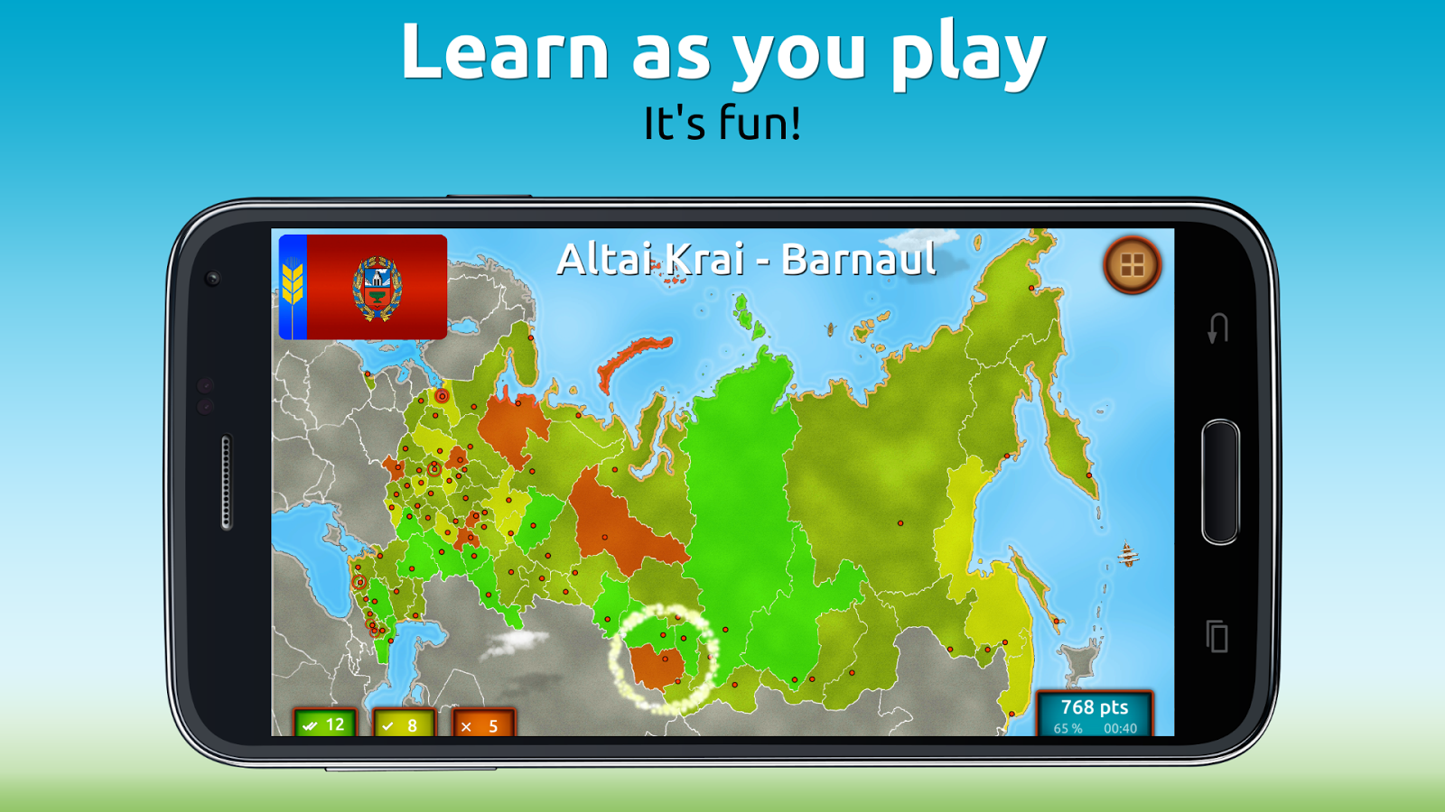 GeoExpert - Russia Geography Screenshot 1