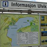 Informatiebord bij de veerboot in Ulvik.