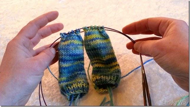 De sokken zijn bijna klaar
