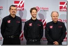 Gunther Steiner, Romain Grosjean e Gene Haas
