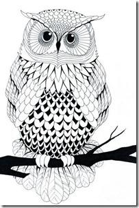 dibujos de buhod en blanco y negro (1)