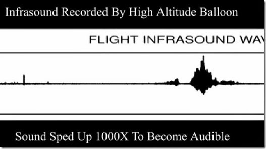 High-Altitude Infrasound Recorded