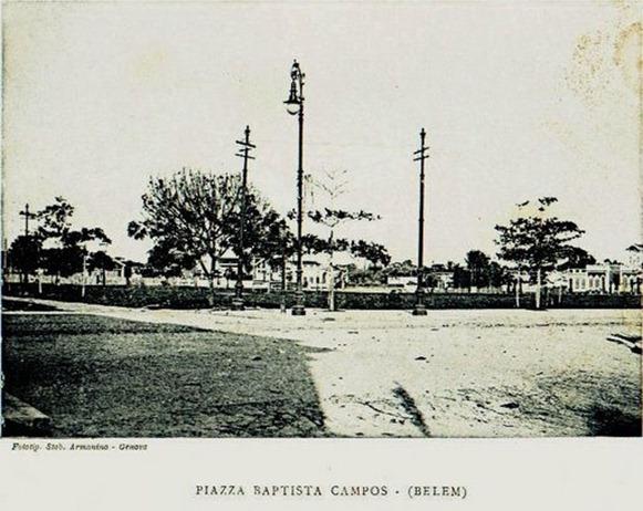 Praça Batista Campos, vecchia foto - Belém do Parà, fonte: artepapaxibe.wordpress.com