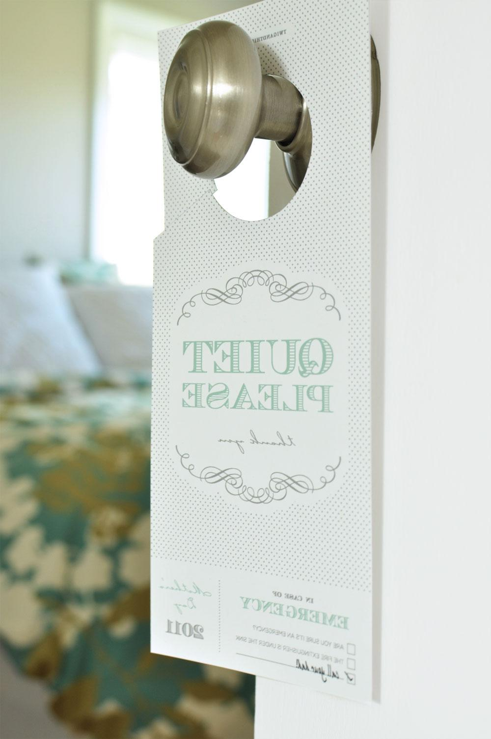 diy wedding door hangers