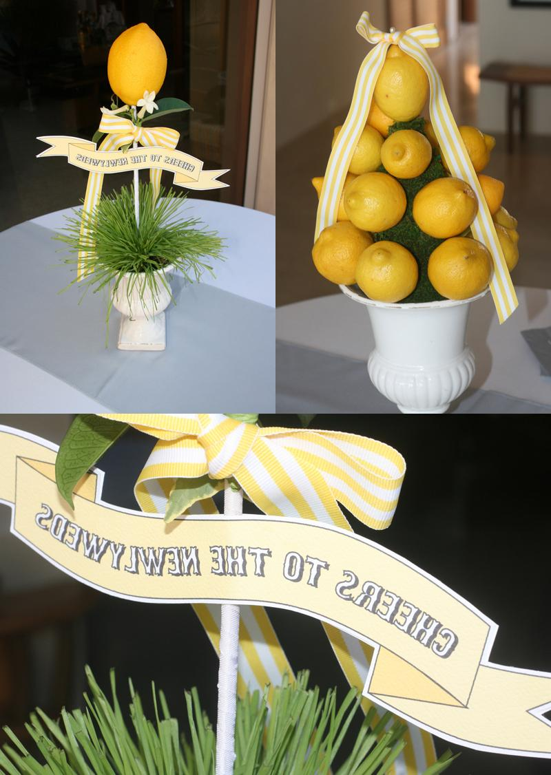 I made banners for the lemon