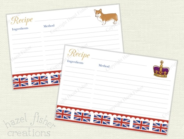 2015 June 30 monthly review printable recipe cards rule britannia hazelfishercreations