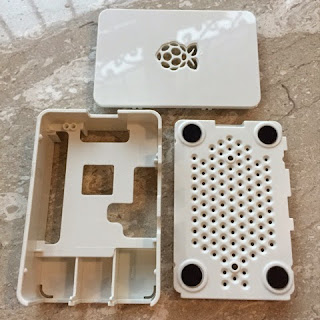 Parts of the Raspberry Pi 2 White Casing