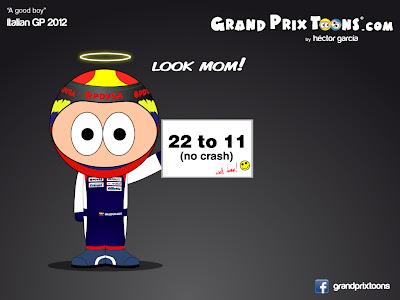 Пастор Мальдонадо - комикс Grand Prix Toons по Гран-при Италии 2012