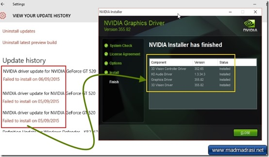 nvidia driver install windows 10