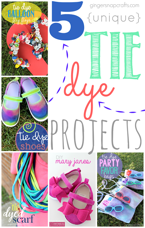 5 Unique Tie Dye Projects at GingerSnapCrafts.com