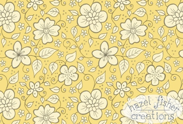 2015 April 27 Patchwork Bees Spoonflower contest fabric design hazelfishercreations 2