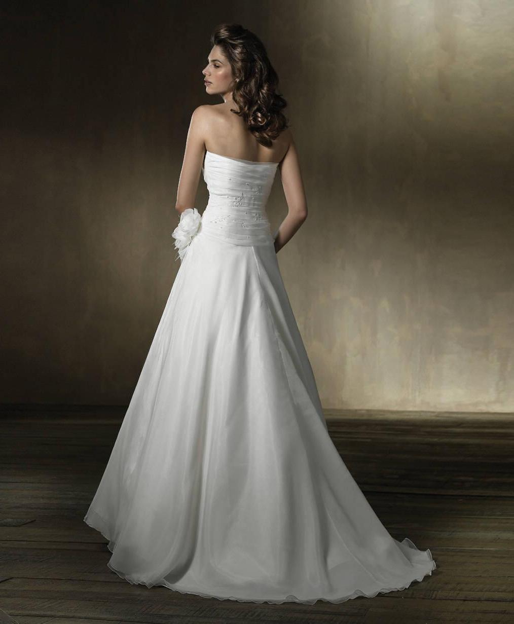 Train Satin wedding dress