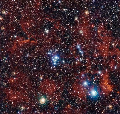 o colorido aglomerado estelar NGC 2367