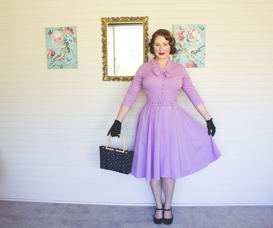 Reproduction 1950's dress by Top Runway | Lavender & Twill
