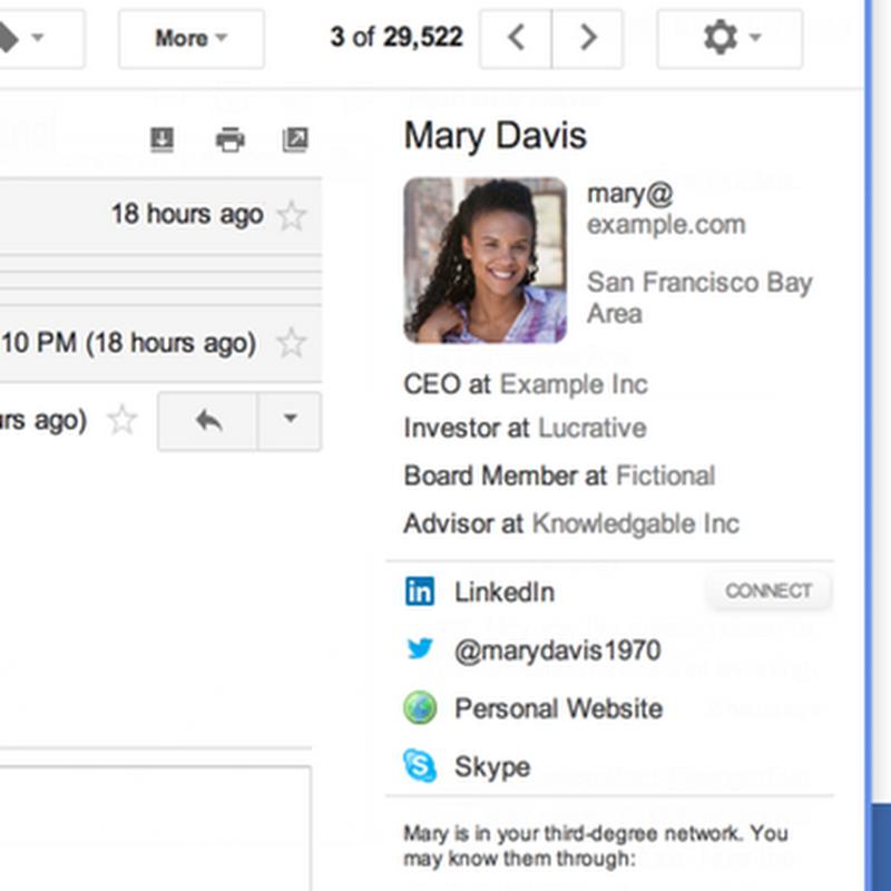 ทราบรายละเอียดและ soical ของผู้ส่งอีเมล์ได้แสนง่ายใน Gmail